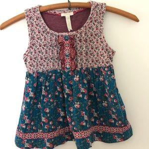 Matilda Jane Tunic/Dress Sleeveless Floral Print